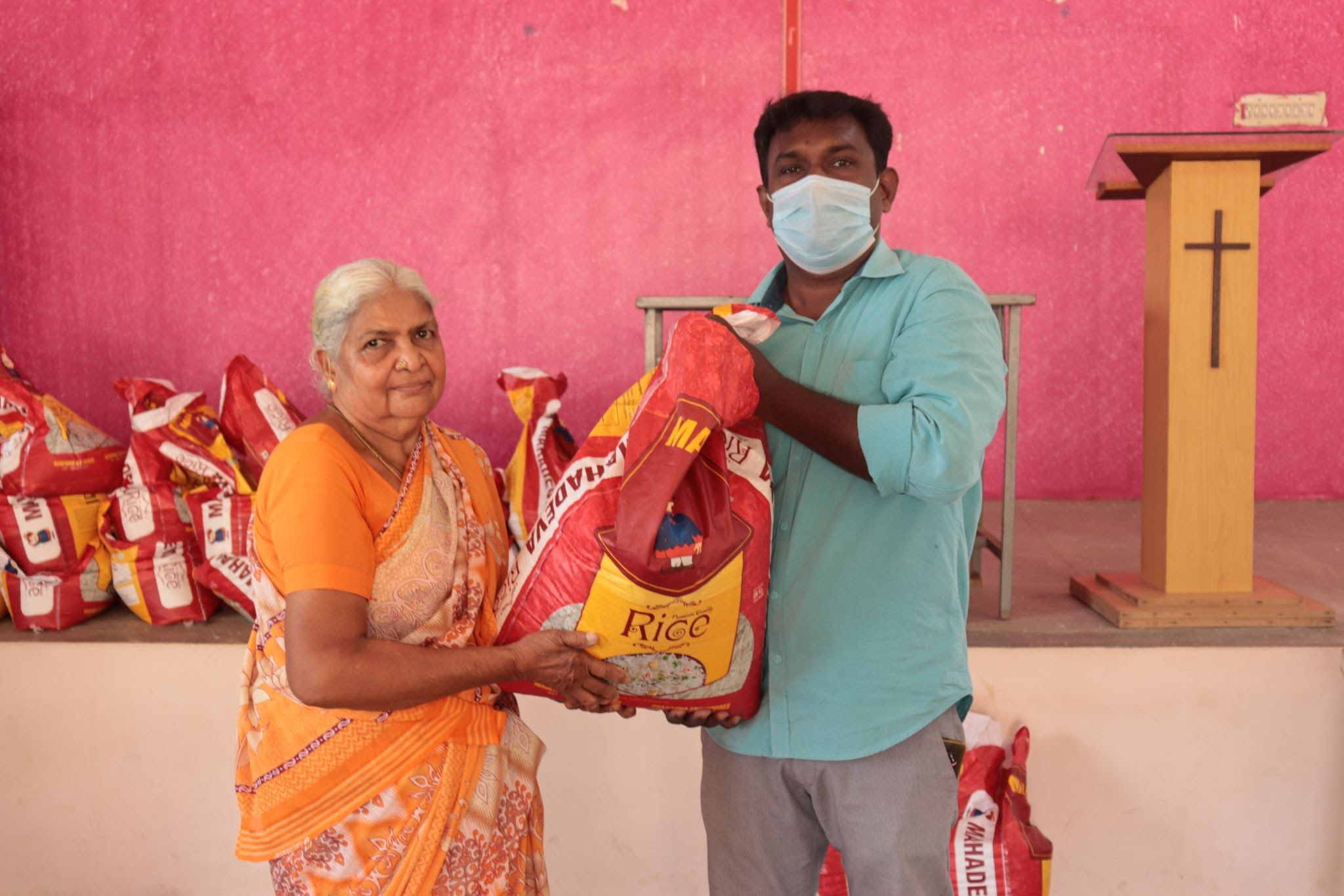 Villager offers heartfelt thanks for food and medical supplies